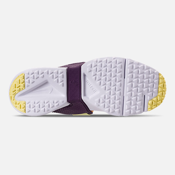 Bottom view of Girls' Big Kids' Nike Huarache Extreme Casual Shoes in Pink/Citron/Night Purple/Bright Grape