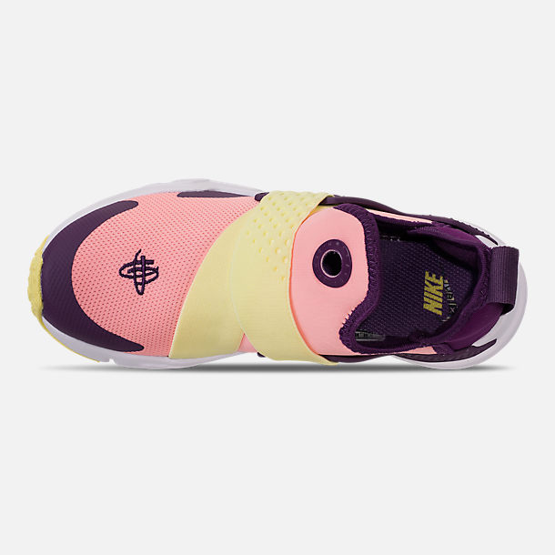 Top view of Girls' Big Kids' Nike Huarache Extreme Casual Shoes in Pink/Citron/Night Purple/Bright Grape