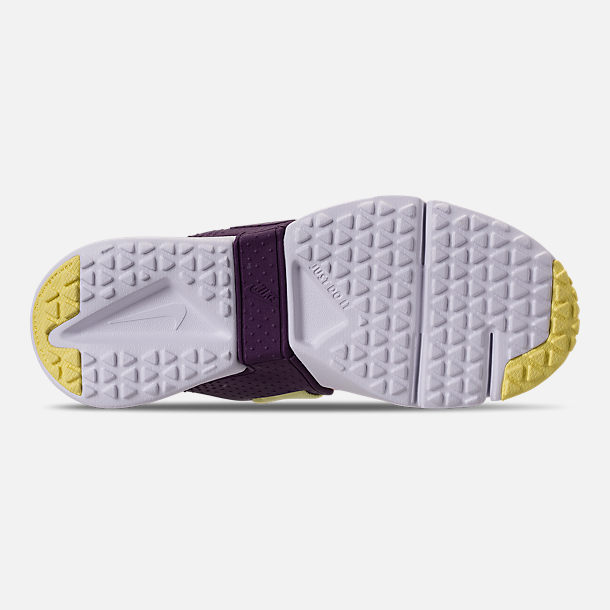 Bottom view of Girls' Little Kids' Nike Huarache Extreme Casual Shoes in Pink/Citron/Night Purple/Bright Grape