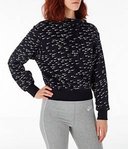 Women's Nike Sportswear Allover Print Crop Hoodie