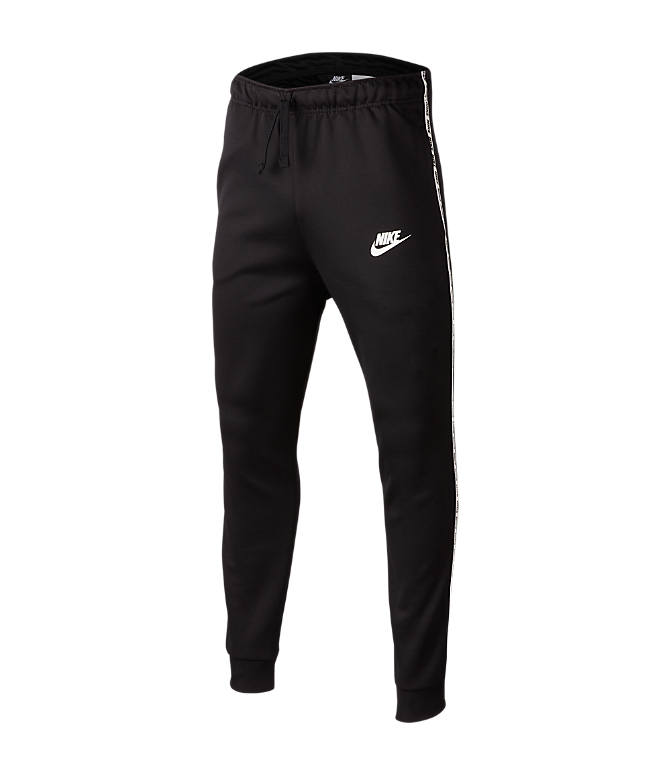 Front view of Boys' Nike Taped Jogger Pants in Black/White