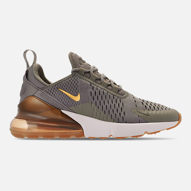 Right view of Women's Nike Air Max 270 Casual Shoes in Dark Stucco/Metallic Gold/Sail