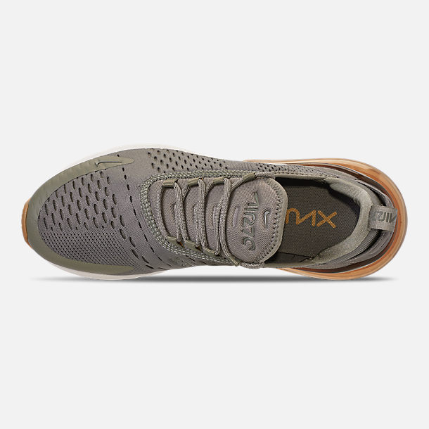 Top view of Women's Nike Air Max 270 Casual Shoes in Dark Stucco/Metallic Gold/Sail