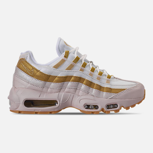 Right view of Women's Nike Air Max 95 Casual Shoes in Desert Sand/Metallic Gold/Summit White