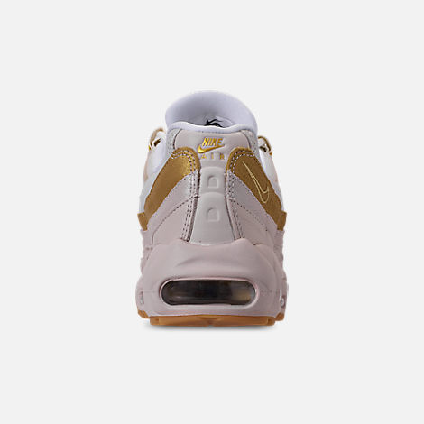 Back view of Women's Nike Air Max 95 Casual Shoes in Desert Sand/Metallic Gold/Summit White