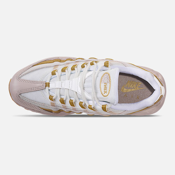 Top view of Women's Nike Air Max 95 Casual Shoes in Desert Sand/Metallic Gold/Summit White