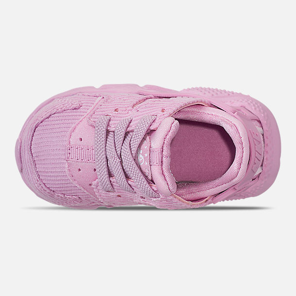 newest b8883 9751c Top view of Girls  Toddler Nike Huarache Run Premium Casual Shoes in Light  Arctic Pink
