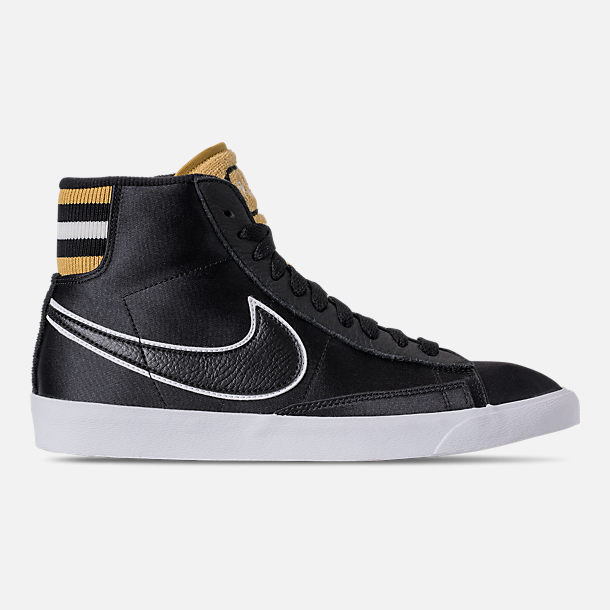 Right view of Women's Nike Blazer Mid Premium Casual Shoes in Black/Wheat Gold/White