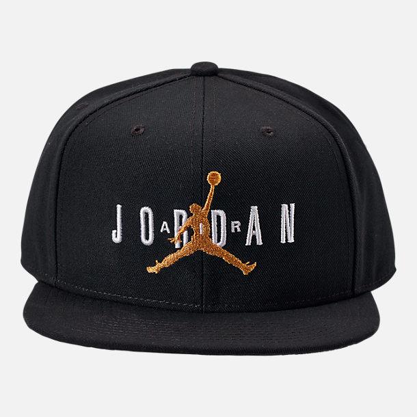 a3b837e3c4f9d0 Back view of Jordan Dri-FIT Pro Jumpman Air HBR Snapback Hat in Black