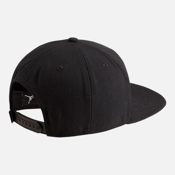 4adb0bb9494 Back view of Jordan Dri-FIT Pro Jumpman Air HBR Snapback Hat in Black