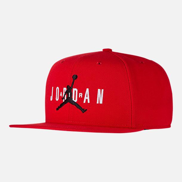 760ef7357ca Front view of Jordan Dri-FIT Pro Jumpman Air HBR Snapback Hat in Red