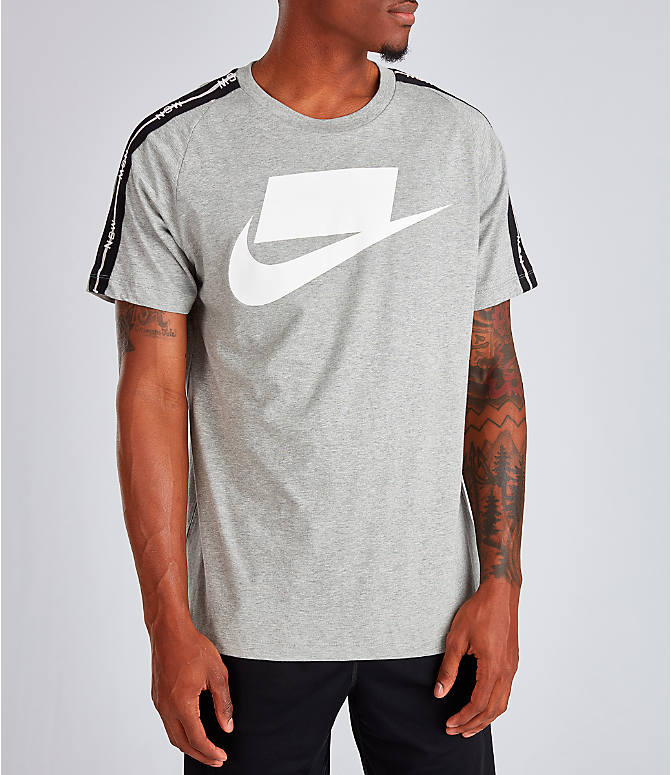 Front view of Men's Nike Sportswear NSW T-Shirt in Dark Grey