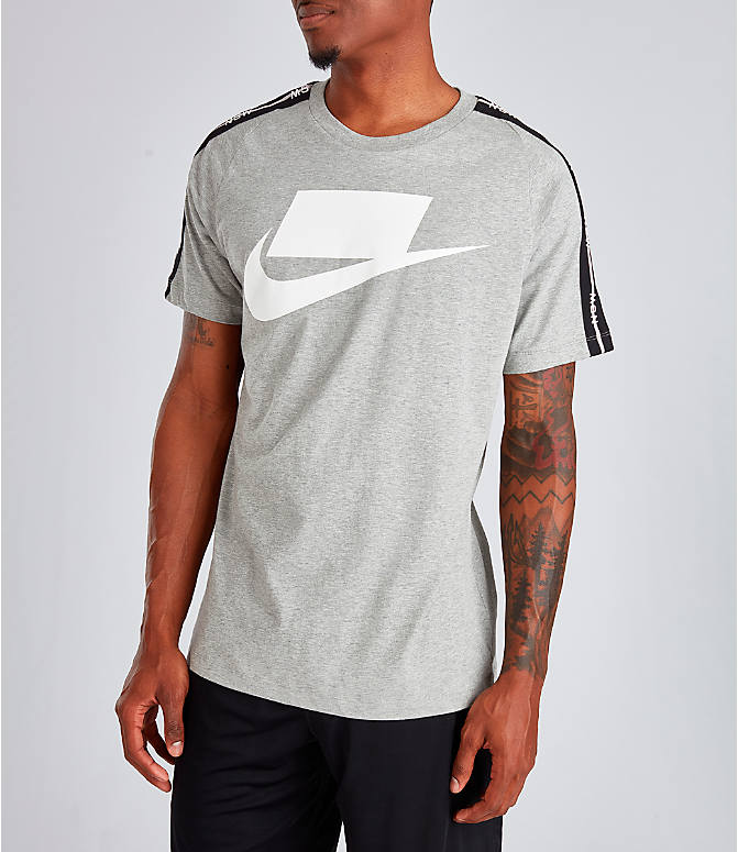 Front Three Quarter view of Men's Nike Sportswear NSW T-Shirt in Dark Grey
