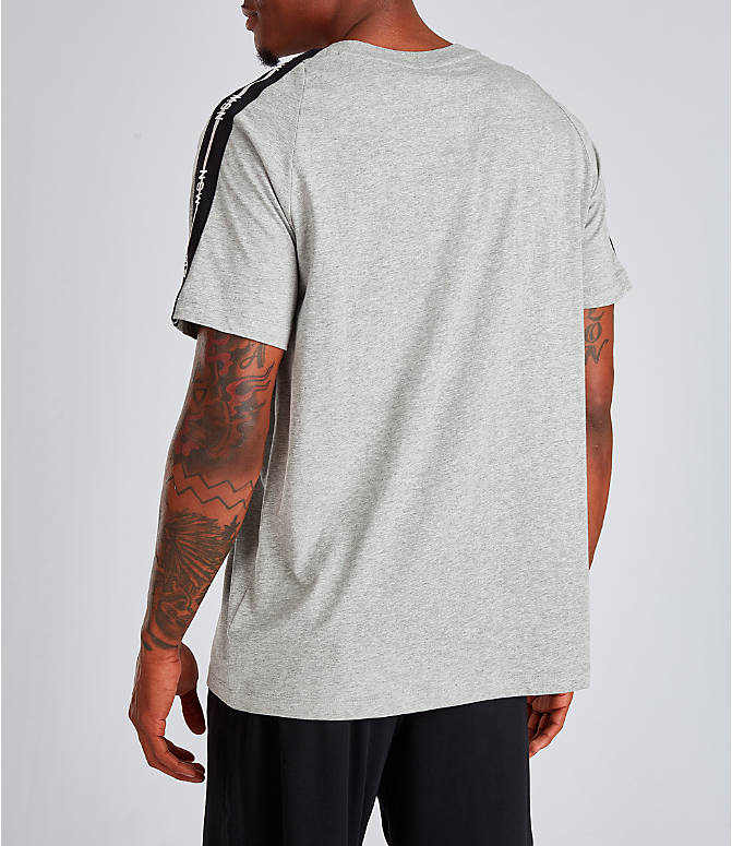 Back Left view of Men's Nike Sportswear NSW T-Shirt in Dark Grey