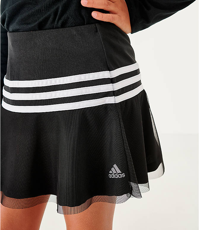 On Model 5 view of Girls' adidas Athletics Sport Skort in Black/White
