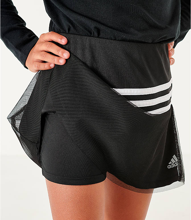 On Model 6 view of Girls' adidas Athletics Sport Skort in Black/White