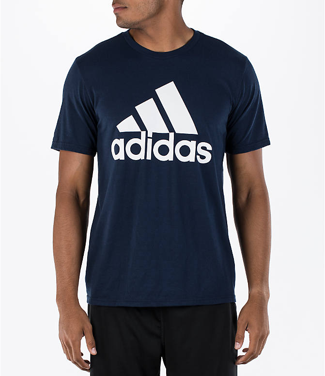 Front view of Men's adidas Badge of Sport Classic T-Shirt in Royal
