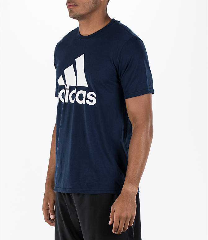 Front Three Quarter view of Men's adidas Badge of Sport Classic T-Shirt in Royal