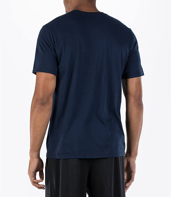 Back Left view of Men's adidas Badge of Sport Classic T-Shirt in Royal