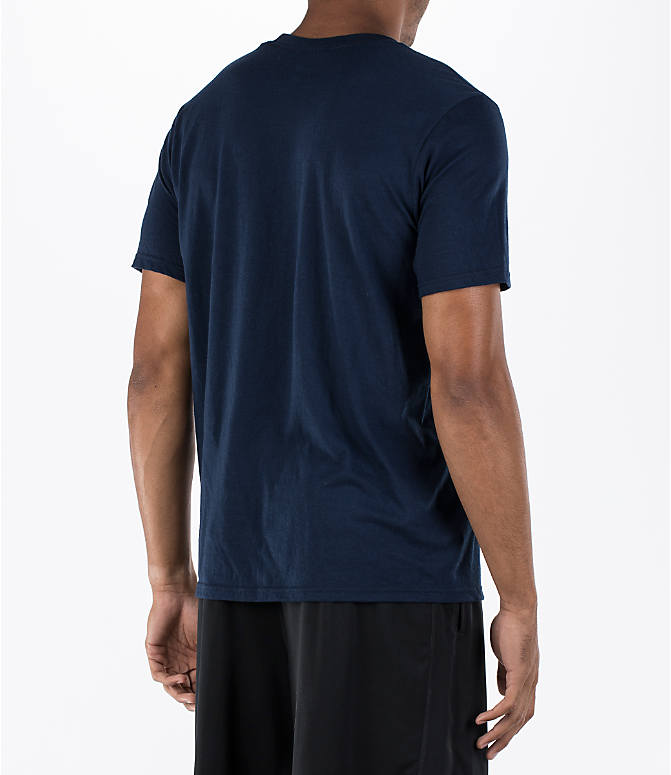 Back Right view of Men's adidas Badge of Sport Classic T-Shirt in Royal