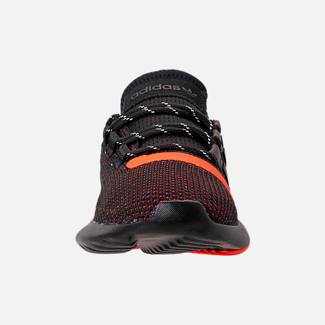 Front view of Boys' Grade School adidas Tubular Dusk Running Shoes in Core Black/