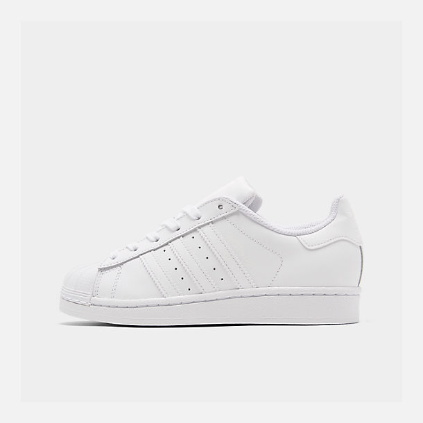 46a3879cb0a Right view of Big Kids  adidas Superstar Casual Shoes in White