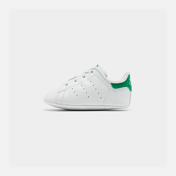 Right view of Infant adidas Originals Stan Smith Crib Booties in White/Green