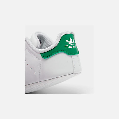 Front view of Infant adidas Originals Stan Smith Crib Booties in White/Green