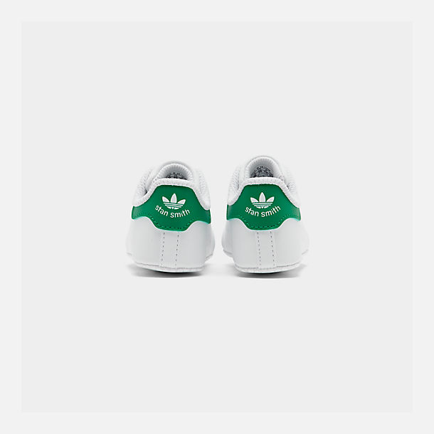 Left view of Infant adidas Originals Stan Smith Crib Booties in White/Green
