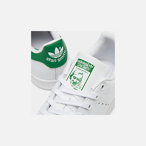 Front view of Women's adidas Originals Stan Smith Casual Shoes in GRN