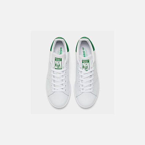 Back view of Women's adidas Originals Stan Smith Casual Shoes in GRN