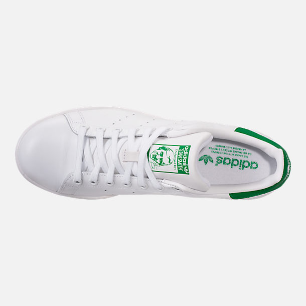 Top view of Women's adidas Originals Stan Smith Casual Shoes in GRN