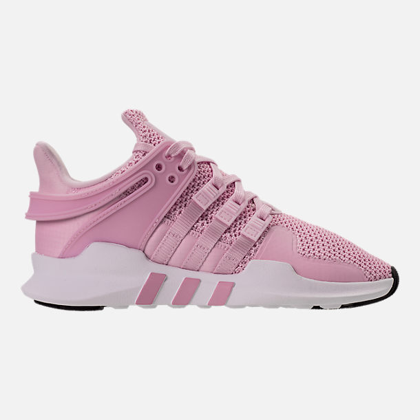 Right view of Girls' Grade School adidas EQT Support ADV Casual Shoes in Aero Pink