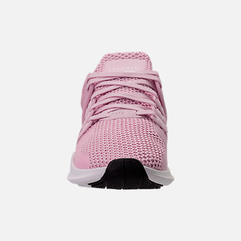 Front view of Girls' Grade School adidas EQT Support ADV Casual Shoes in Aero Pink