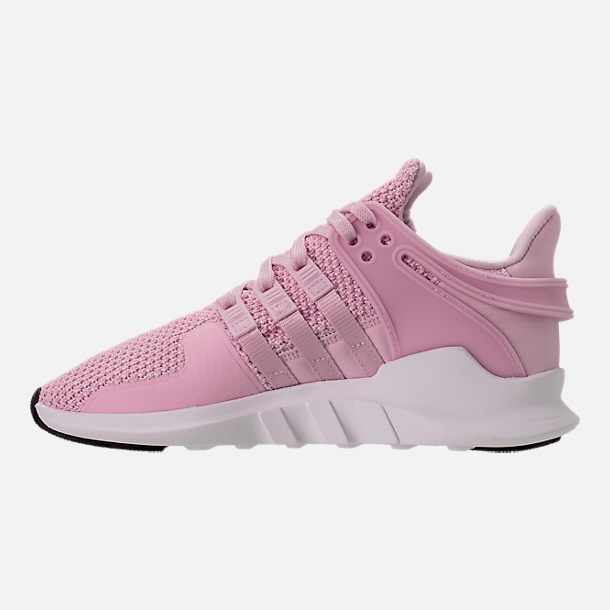 Left view of Girls' Grade School adidas EQT Support ADV Casual Shoes in Aero Pink