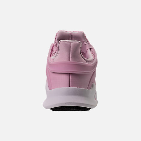 Back view of Girls' Grade School adidas EQT Support ADV Casual Shoes in Aero Pink