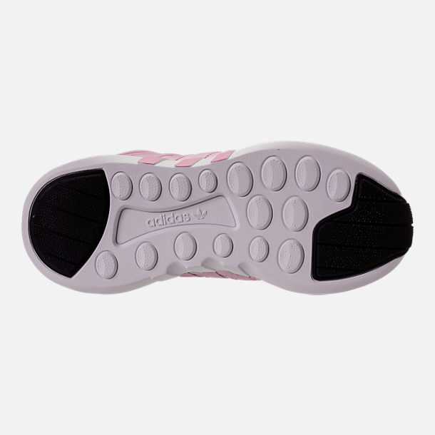 Bottom view of Girls' Grade School adidas EQT Support ADV Casual Shoes in Aero Pink
