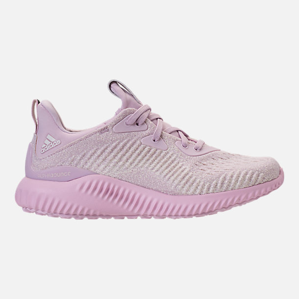Right view of Girls' Grade School adidas AlphaBounce EM Running Shoes in  Aero Pink/
