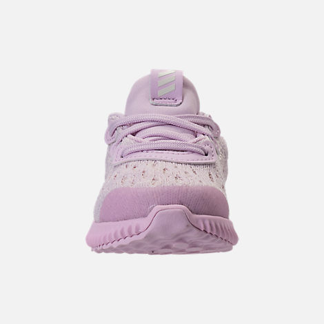 Front view of Girls' Toddler adidas AlphaBounce EM Running Shoes in Aero Pink/Chalk White/Aero Pink