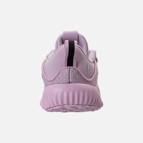 Back view of Girls' Toddler adidas AlphaBounce EM Running Shoes in Aero Pink/Chalk White/Aero Pink