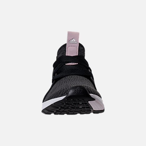 Front view of Women's adidas Edge Lux Running Shoes in Black/Ash Pearl/White