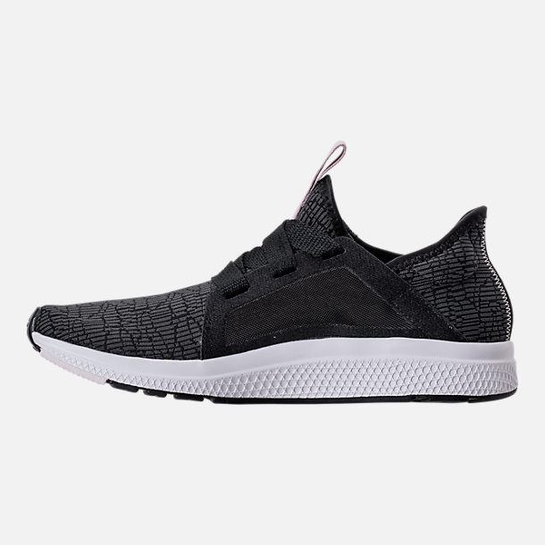 Left view of Women's adidas Edge Luxe Running Shoes in Black/Ash Pearl/White