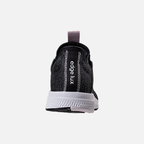 Back view of Women's adidas Edge Lux Running Shoes in Black/Ash Pearl/White
