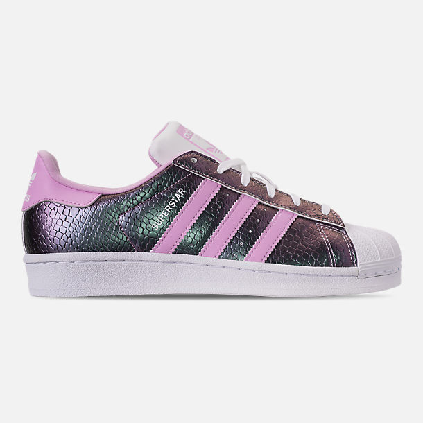 Right view of Girls' Grade School adidas Superstar Casual Shoes