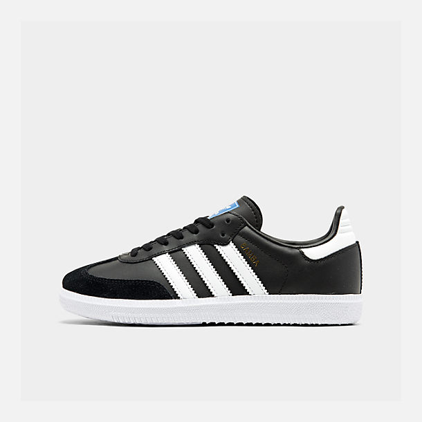 Right view of Big Kids' adidas Samba OG Casual Shoes in Black/White