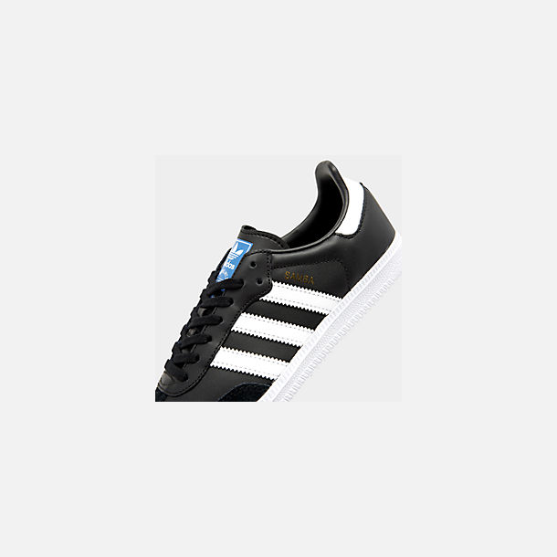 Front view of Big Kids' adidas Samba OG Casual Shoes in Black/White