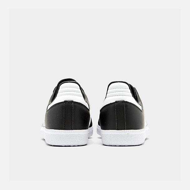 Left view of Big Kids' adidas Samba OG Casual Shoes in Black/White