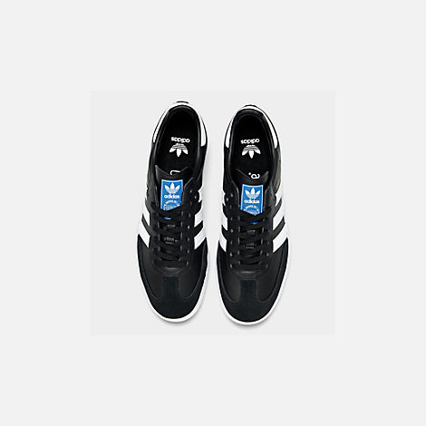 Back view of Big Kids' adidas Samba OG Casual Shoes in Black/White