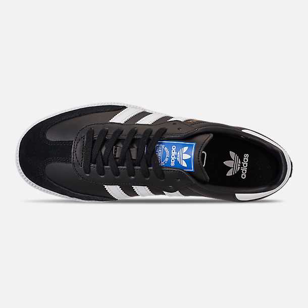 Top view of Big Kids' adidas Samba OG Casual Shoes in Black/White