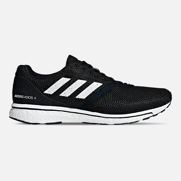 Right view of Men's adidas adizero Adios 4 Running Shoes in Core Black/Cloud White/Core Black